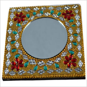 Handicraft Rajashtani Lac art mirror
